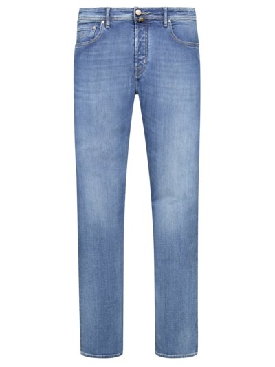 Hochwertige 5-Pocket Jeans, J688 in DENIM