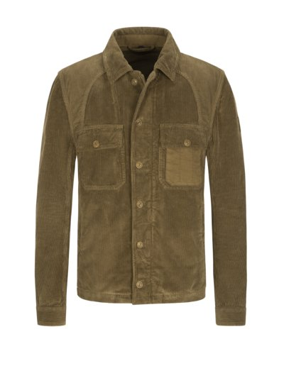 Overshirt aus Cord in BRAUN