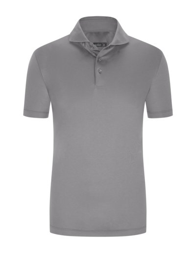 Hochwertiges Jersey-Poloshirt, Slim Fit in M-GRAU