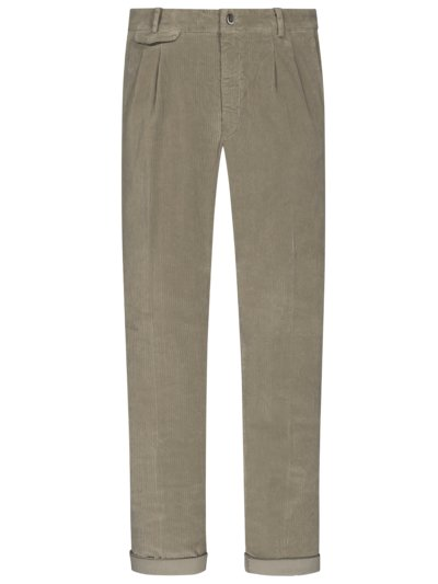 Cord-Chino mit Bundfalte, Amalfi, Relaxed Fit in TAUPE