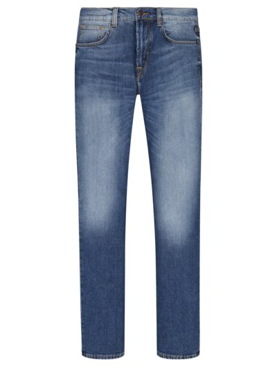5-Pocket Jeans mit Eco-Denim, John, Slim Fit in BLAU