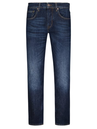 5-Pocket Jeans mit Eco-Denim, John, Slim Fit in NAVY
