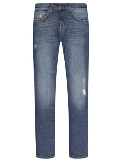 Jeans mit Stretchanteil, John, Slim Fit in BLAU