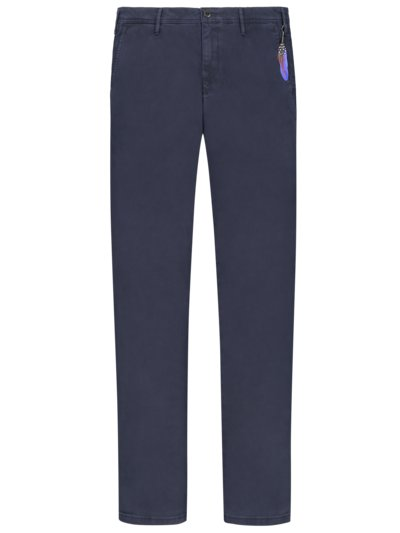 Baumwollchino, Lupus, Slim Fit in MARINE