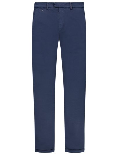 Chino in Denim-Optik, Superstretch, Slim Fit in MARINE