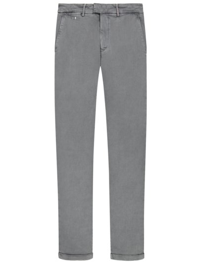 Chino in Denim-Optik, Superstretch, Slim Fit in GRAU