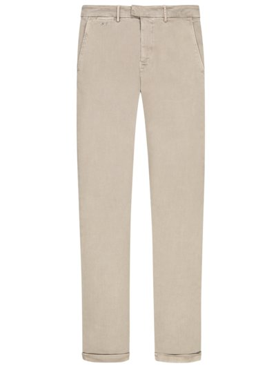 Chino in Denim-Optik, Superstretch, Slim Fit in BEIGE