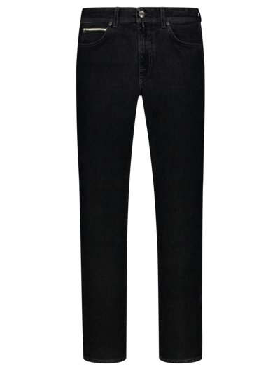 Jeans in edlem Samt-Denim, Slim Fit in SCHWARZ
