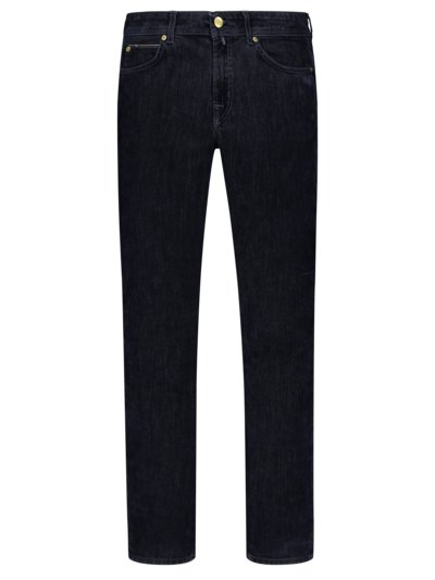 Jeans in edlem Samt-Denim, Slim Fit in MARINE