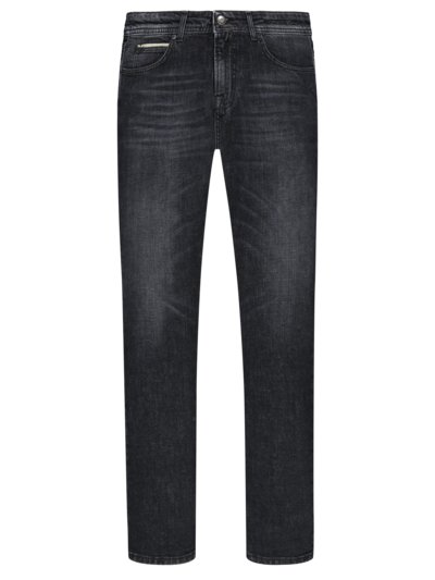 Jeans im Washed-Look, Slim Fit in ANTHRAZIT