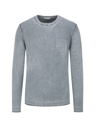 Pullover im Washed-Look in TAUPE