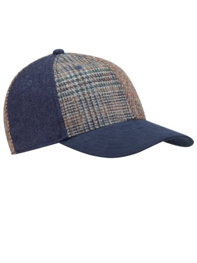 Patchwork Cap aus Wolle in BRAUN