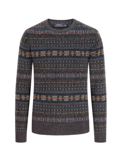 Pullover mit Fair-Isle Muster in ANTHRAZIT