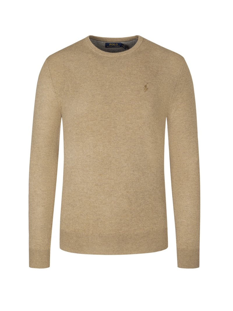 Lambswool-Pullover in BEIGE