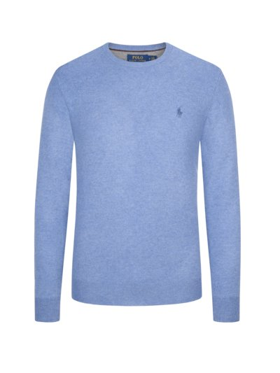 Lambswool-Pullover in BLAU