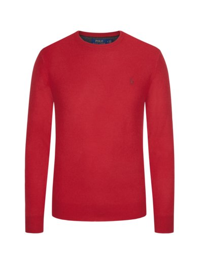 Lambswool-Pullover in ROT