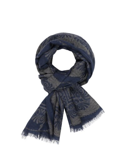 Schal mit Paisley-Muster in BLAU