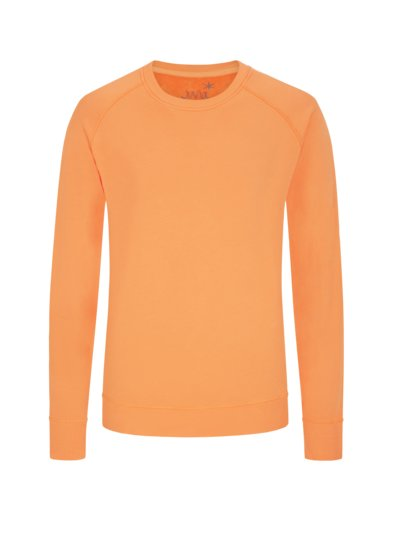 Modisches Sweatshirt mit Terry-Fleece Innenseite in ORANGE