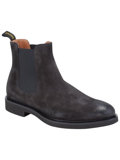 Chelseaboots in Wildleder in GRAU