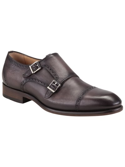 Doppelmonk Businessschuh, Half Brogue in ANTHRAZIT