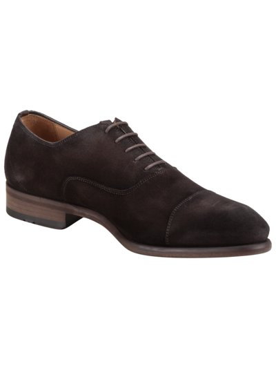Oxford Businessschuh in Veloursleder in BRAUN