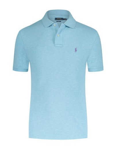 Poloshirt, Slim Fit in ACQUA