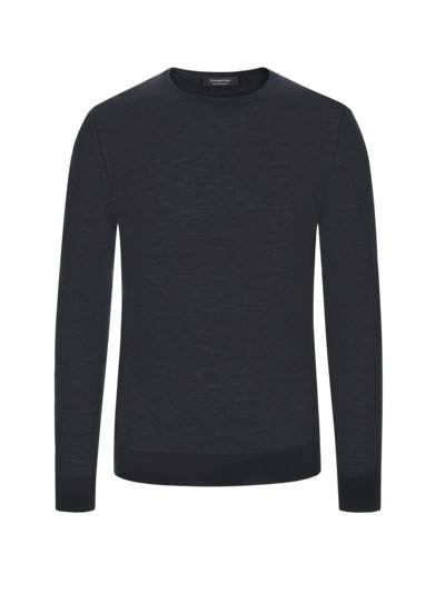 Hochwertiger Pullover in 'High Performance' Wolle in MARINE