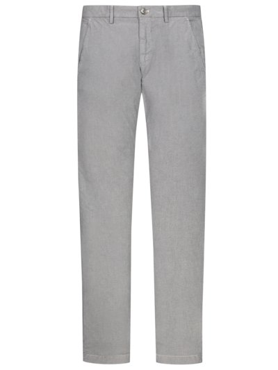 Leichte Chino in Minimalstruktur, Torino, Slim Fit in GRAU
