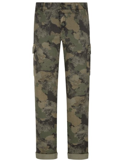 Chino mit Camouflage-Muster in OLIV