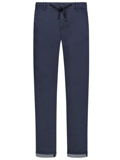 Travel-Joggpant, Milano, Extra Slim Fit in MARINE