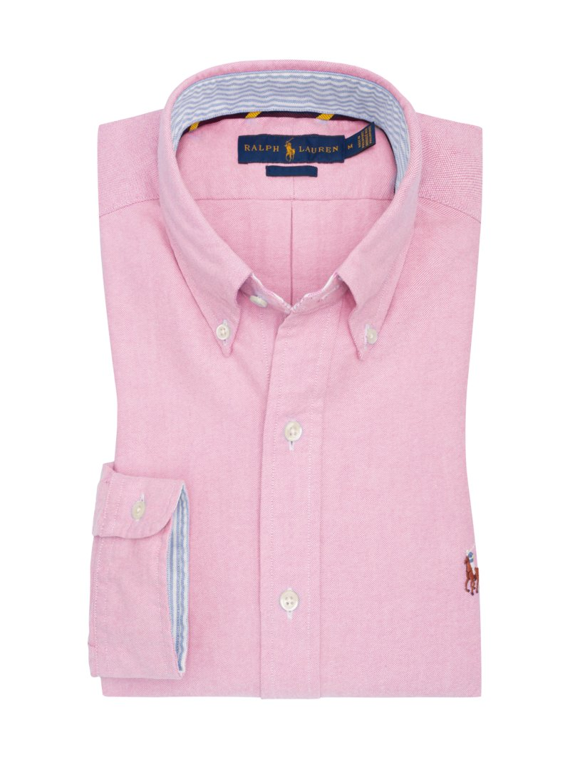 Hemd in Oxford-Struktur, Slim Fit in ROSA
