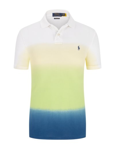 Poloshirt in modischem Farb-Design, Custom Slim Fit in GRUEN