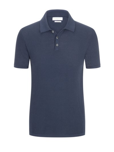 Poloshirt in modischer Struktur in MARINE