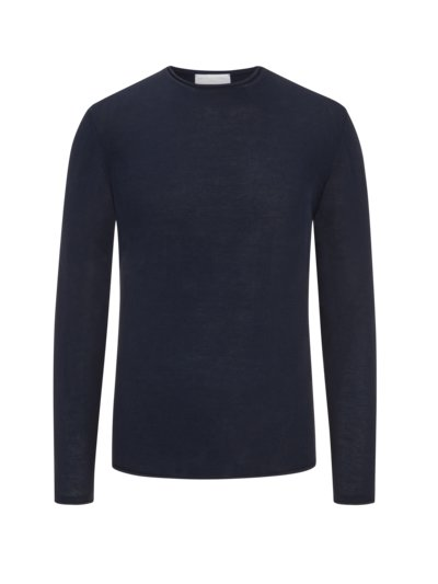 Pullover in 'Dry-Cotton' Qualität in MARINE