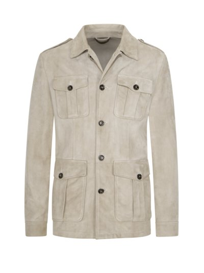 Lederjacke im Overshirt-Look in KITT