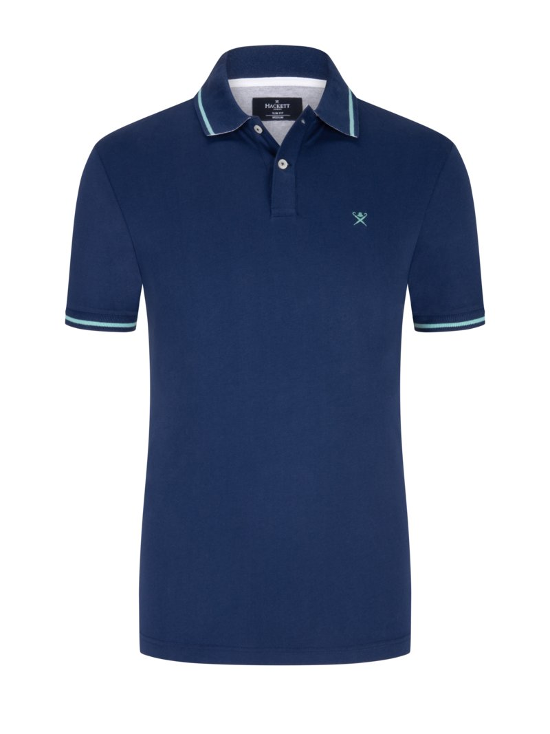 Jersey-Poloshirt, Slim Fit in ROYAL