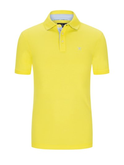 Poloshirt in Piqué-Baumwolle, Slim Fit in GELB
