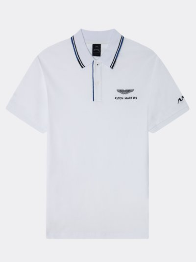 Poloshirt mit Logo-Stickerei, Aston Martin Kollektion in WEISS