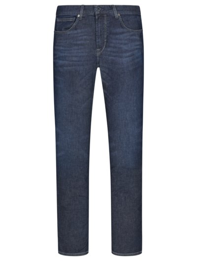 Stretch-Jeans in Summer-Denim, John, Slim Fit in DUNKELBLAU