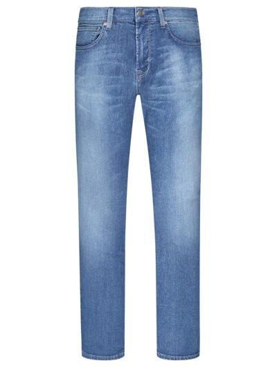 Denim-Jeans mit Movimento-Stretch, John, Slim Fit in BLAU