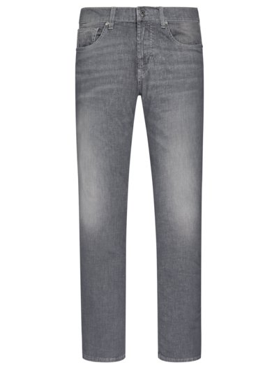Jeans in leichtem Denim, John, Slim Fit in GRAU