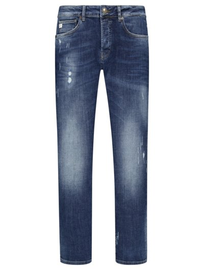 Jeans in modischer Waschung, Slim Fit in BLAU
