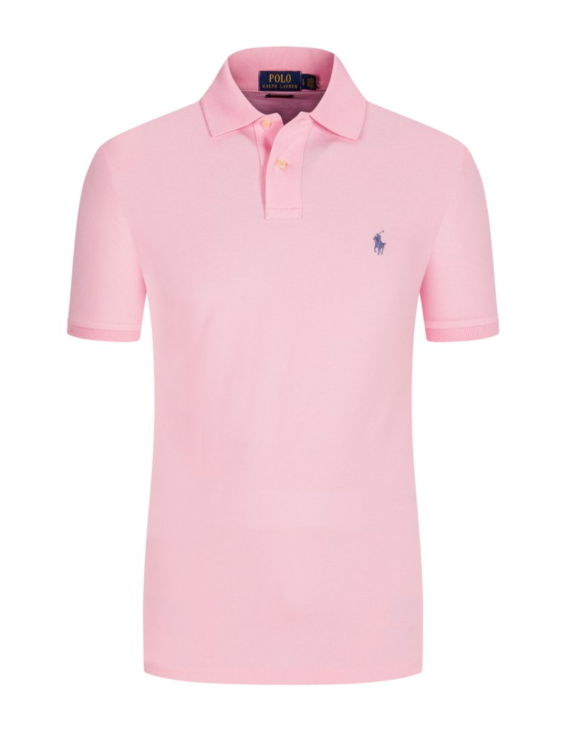Poloshirt in Piqué-Qualität, Slim Fit in ROSA