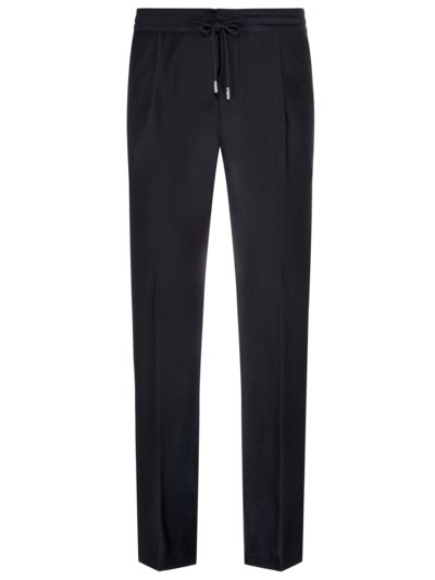 Business-Joggpant in Travel-Qualität, Shaped Fit in MARINE