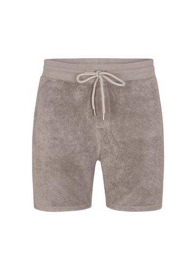 Bermuda in Frottee-Qualität in TAUPE