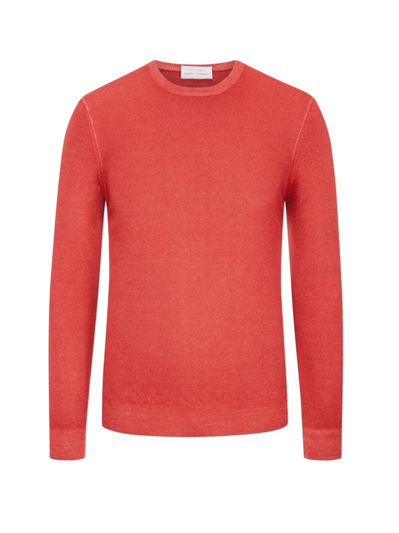 Kaschmirpullover, Summer-Cashmere in ORANGE