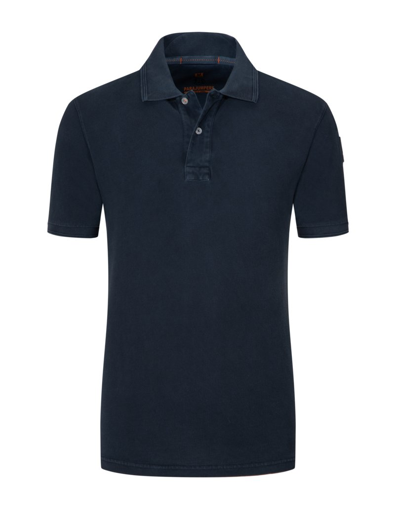 Poloshirt im Washed-Look in MARINE