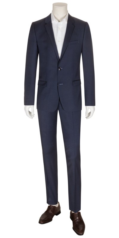 Businessanzug im Minimalmuster, Astian/Hets, Extra Slim Fit in MARINE