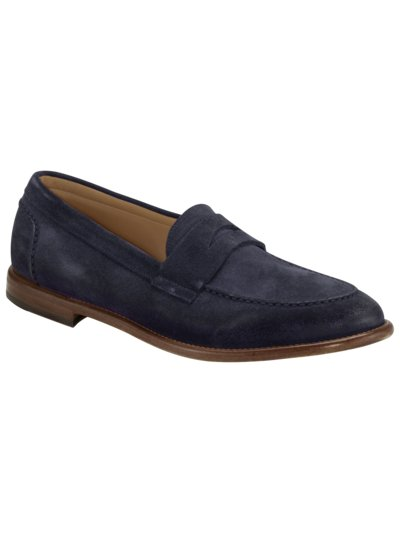Loafer aus Velours-Leder in MARINE