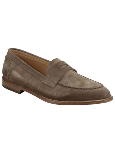 Loafer aus Velours-Leder in TAUPE